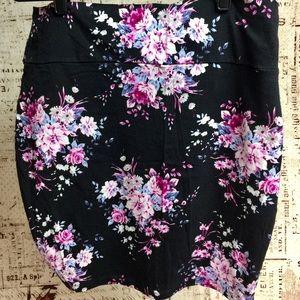 Floral Bodycon Skirt